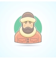 Warm dressed man polar explorer icon vector image vector image