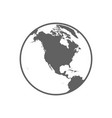 white and gray flat globe symbol vector image vector image
