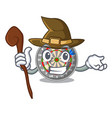 witch dartcoard isolated with in the character vector image vector image