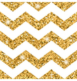 Zigzag seamless pattern Gold glitter and white vector image