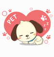 lovely dog sleeping vector image