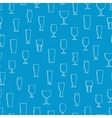 Seamless pattern with beer glasses vector image