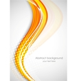 Abstract background with orange wave vector image vector image