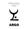 astrology constellation argo argo navis vector image vector image
