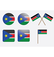 badges with flag of South Sudan vector image