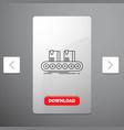 belt box conveyor factory line line icon in vector image vector image