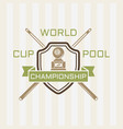 billiards championship colored emblem vector image vector image