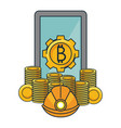bitcoin mining and investment vector image