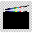 blank director clapboard vector image