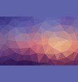 bright multicolor blue and brown low poly vector image vector image