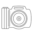 Camera icon outline style vector image vector image