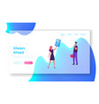 characters online shopping website landing page vector image