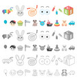 children s toy cartoon icons in set collection for vector image vector image