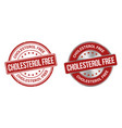 cholesterol free grunge stamp and label vector image vector image