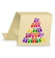 christmas card 3 vector image