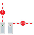 Closed and opened barrier vector image vector image