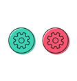 cogwheel line icon service sign vector image