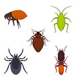 collection colorful bug icons on vector image vector image