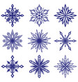 collection of decorative snowflakes set winter vector image vector image