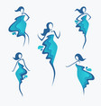 collection of water dress girls silhouette for vector image vector image