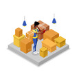 delivery company isometric 3d icon vector image vector image