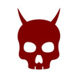 devil skull icon on white background vector image