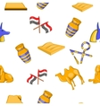 Egypt pattern cartoon style vector image vector image
