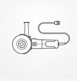 electric angle grinder image vector image vector image