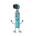 electric toothbrush cartoon in watercolor vector image