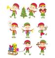 Elf helpers vector image vector image