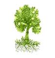 Fairy hand drawn green tree vector image vector image