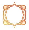 frame decorative figures desig vector image vector image