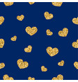 gold heart seamless pattern golden chaotic vector image