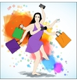 Happy shopping vector image