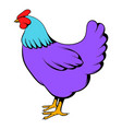 hen icon cartoon vector image vector image