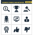Icons set premium quality of various business vector image