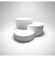 Infographic 3D pedestal vector image
