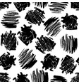 ink hand drawn abstract shapes seamless pattern vector image vector image