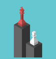 king pawn on pedestals vector image vector image