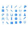 laboratory equipment gradient icons vector image