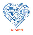 love winter lifestyle background vector image vector image