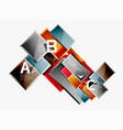 minimal square banner abstract background vector image
