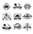 Mining Industry Vintage Emblems vector image
