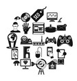 modern game icons set simple style vector image vector image