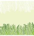 Nature green pattern background vector image