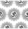 om and mandala seamless pattern vector image