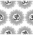om and mandala seamless pattern vector image vector image