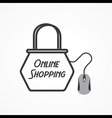 Online shopping Concept with shopping bag and mous vector image vector image