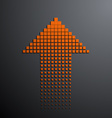 orange arrow on the gray background vector image