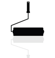 paint roller icon silhouette vector image